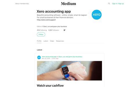 Xero accounting app – Medium