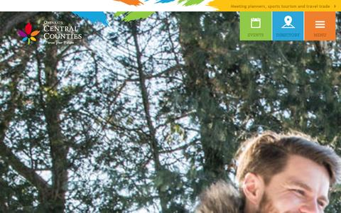 Screenshot of Home Page centralcounties.ca - Things To Do & Places To Visit in Ontario's Central Counties - captured Jan. 26, 2016
