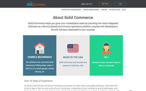 Screenshot of About Page Contact Page solidcommerce.com - About Solid Commerce - captured June 29, 2018