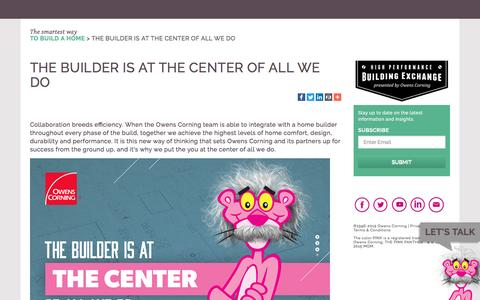 Screenshot of Landing Page owenscorning.com - Building Genius - captured Oct. 18, 2016