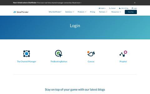 Screenshot of Login Page siteminder.com - SiteMinder login - access the SiteMinder guest acquisition platform - captured June 13, 2018