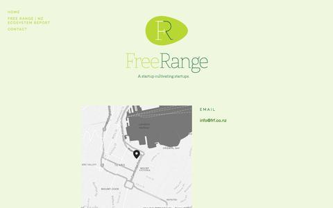 Screenshot of Contact Page freerangefarm.co.nz - Contact Free Range — Free Range - captured Oct. 6, 2014