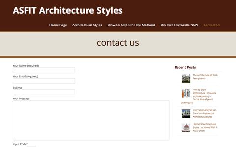 Screenshot of Contact Page asfit.org - contact us | ASFIT Architecture Styles - captured June 1, 2016