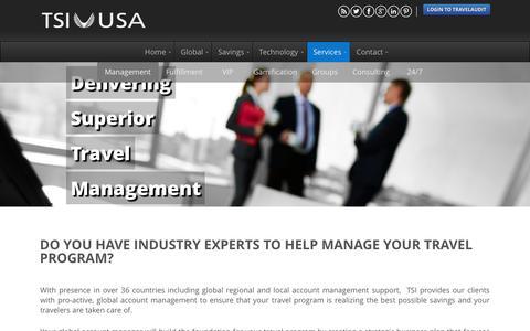 Screenshot of Team Page tsiusa.com - Account Management - Travel Solutions International USA - captured Feb. 17, 2016