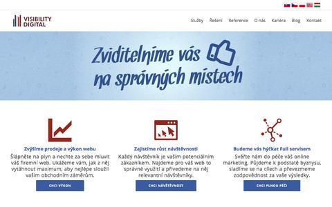 Screenshot of Home Page visibility-digital.cz - Zviditelníme vás na správných místech             VISIBILITY DIGITAL - captured Feb. 14, 2016