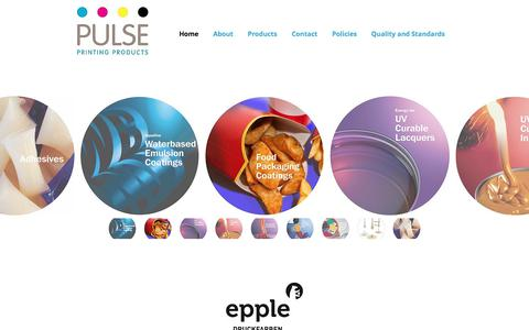 Screenshot of Home Page pulseppl.com - Pulse Printing Products - captured Sept. 19, 2017