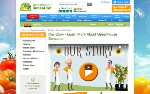 Screenshot of About Page greenhousesensation.co.uk - Our Story - Greenhouse Sensation - captured July 25, 2018