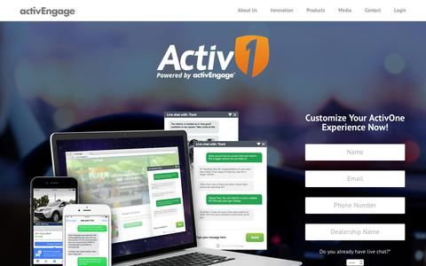 Screenshot of Products Page activengage.com - ActivOne Managed Chat - ActivEngage - captured Aug. 7, 2018