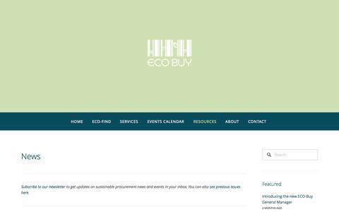 Screenshot of Press Page ecobuy.org.au - News — ECO BUY - captured Sept. 26, 2014