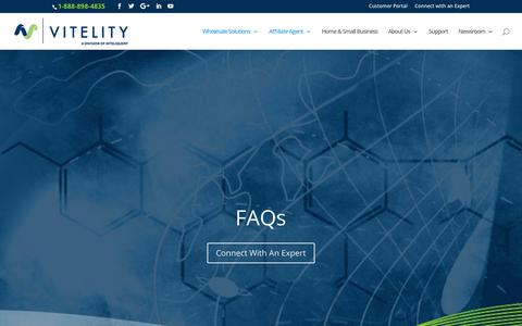 Screenshot of FAQ Page vitelity.com - FAQs - Vitelity - captured June 22, 2017