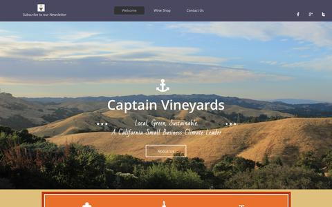 Screenshot of Home Page captainvineyards.com - Green Winery - captured Sept. 26, 2018