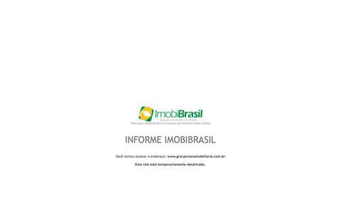 Screenshot of Home Page granjavianaimobiliaria.com.br - IMOBIBRASIL - Site para Imobiliárias - captured Oct. 27, 2018