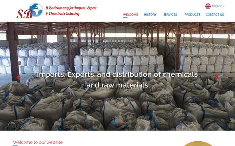 Screenshot of Menu Page elbadramany.com - El Badramany for Import, Export and Chemicals Industries - captured Sept. 27, 2018