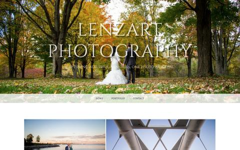 Screenshot of Home Page lenzartphotography.com - Lenzart Photography – Capturing beautiful memories, one photo at a time. - captured May 17, 2017