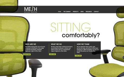 Screenshot of Home Page officechairs.co.uk - Office Chairs | Mesh Office Chairs | Ergonomic Office Chairs | Ergohuman - captured Oct. 6, 2014