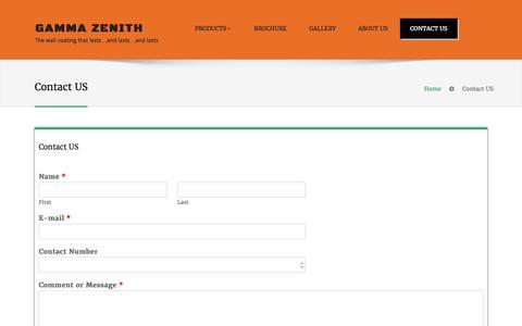 Screenshot of Contact Page gammazenith.co.za - Contact US – Gamma Zenith - captured July 16, 2017