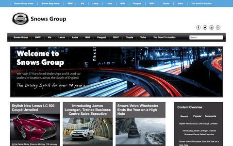 Screenshot of Press Page snowsgroup.co.uk - News | Snows Motor Group - captured Jan. 24, 2016