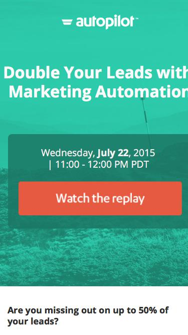 Double Your Leads with Marketing Automation - Webinar