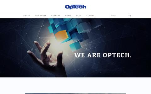 Screenshot of Home Page optechus.com - We are OpTech - Industry leading recruiting and staffing firm - captured Jan. 14, 2018