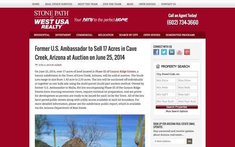 Screenshot of Blog stonepath.com - Stone Path Real Estate Blog - captured Oct. 7, 2014