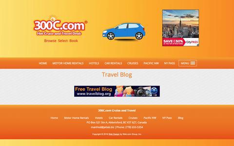 Screenshot of Blog 300c.com - Affiliate Marketing | Contact | Abbotsford, BC - captured Dec. 6, 2018