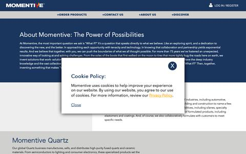 Screenshot of About Page momentive.com - Momentive.com™ Official Site | - captured March 24, 2019