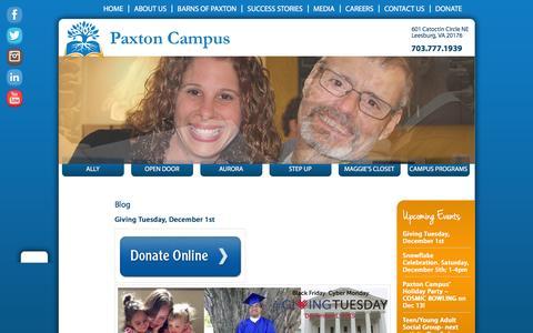 Screenshot of Blog paxtoncampus.org - Blog | Paxton Campus - captured Dec. 5, 2015