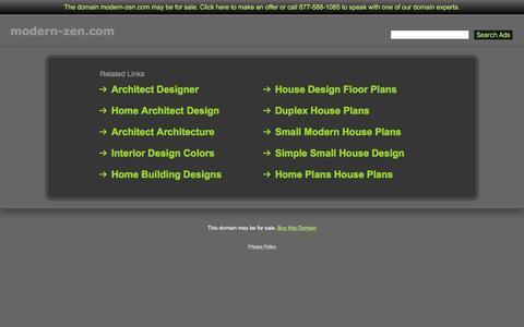Screenshot of Home Page modern-zen.com - Modern-Zen.com - captured Jan. 11, 2016