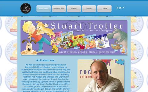Screenshot of Home Page stuarttrotterillustration.co.uk - Stuart Trotter Illustration - captured Oct. 8, 2014