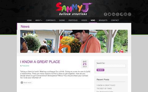 Screenshot of Press Page sammyjballoons.com - News blog for SAMMY J Balloon Creations   Balloon Artist   Entertainer   Decorator   St Louis - captured Oct. 3, 2014