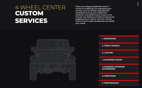 Screenshot of Services Page 4wheelcenter.com - 4 Wheel Center - captured Sept. 20, 2018