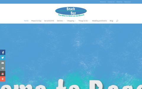 Screenshot of Blog sitedev.us - Panama City Beach Coupons - Beach Bux - captured Oct. 27, 2014