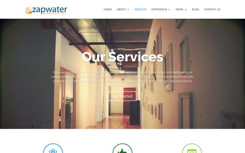Screenshot of Services Page zapwater.com - SERVICES » Zapwater - captured Feb. 26, 2016