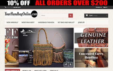 Screenshot of Home Page yourhandbagonline.com - Your Handbag Online - Your Handbag Online - captured June 22, 2017