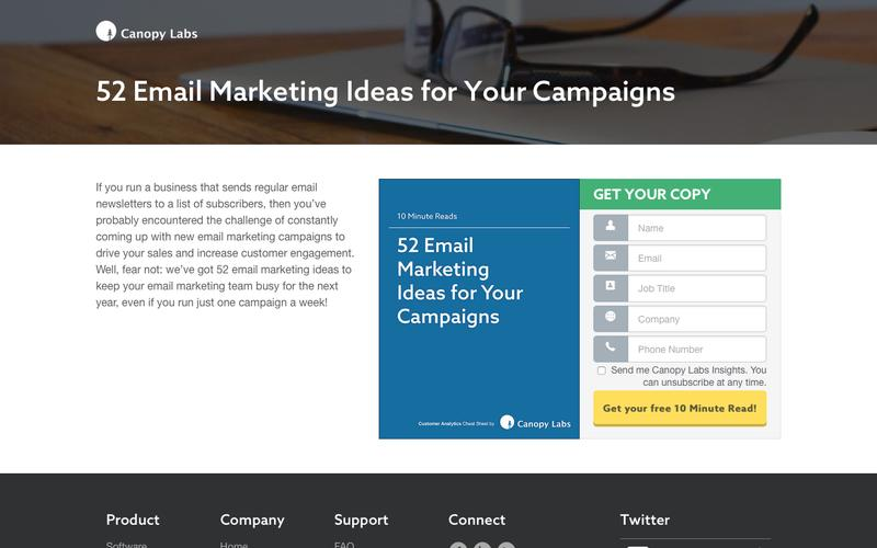 52 Email Marketing Ideas for Your Campaigns - Canopy Labs