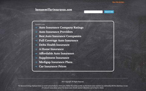 bensonmillarinsurance.com