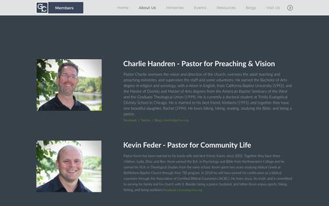 Screenshot of Team Page gcfmn.org - Glory of Christ Fellowship | Leadership - captured Sept. 29, 2018