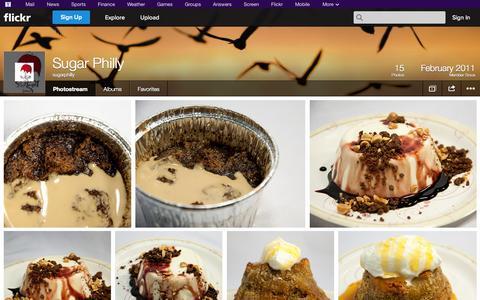 Screenshot of Flickr Page flickr.com - Flickr: sugarphilly's Photostream - captured Oct. 26, 2014
