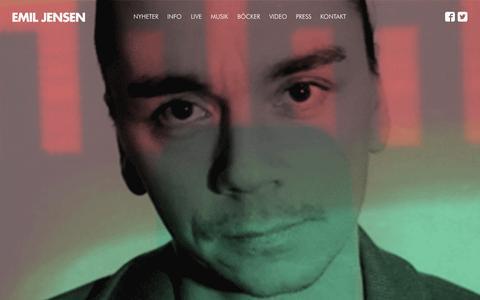 Screenshot of Home Page emiljensen.se - Startsida - Emil Jensen - captured Oct. 9, 2015