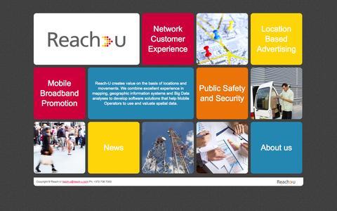 Screenshot of Home Page reach-u.com - Reach-U - captured Sept. 6, 2015