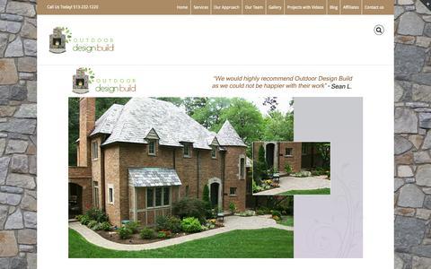 Screenshot of Home Page outdoordesignbuild.com - Outdoor Design Build in Cincinnati. - captured Aug. 16, 2015