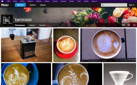 Screenshot of Flickr Page flickr.com - Flickr: baristalab's Photostream - captured Oct. 23, 2014