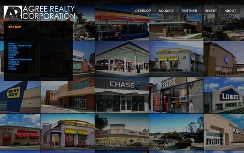 Screenshot of Site Map Page agreerealty.com - Site Map «  Agree Realty - captured Oct. 4, 2014