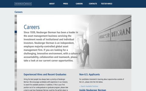 Careers | Neuberger Berman