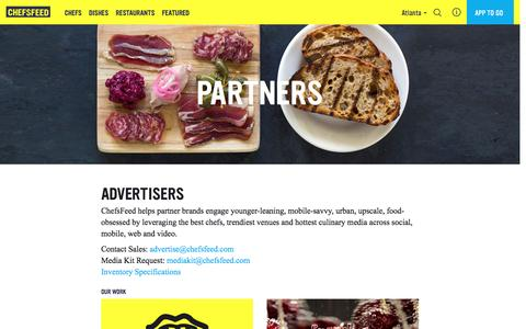 Screenshot of chefsfeed.com - Partners | ChefsFeed - captured March 19, 2016