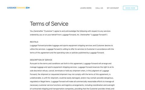 Luggage Forward Terms of Service
