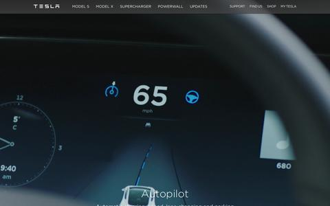 Screenshot of Home Page teslamotors.com - Tesla Motors | Premium Electric Vehicles - captured Feb. 12, 2016