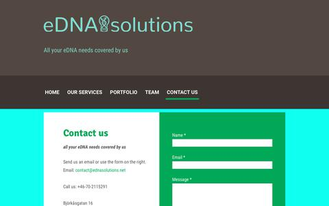 Screenshot of Contact Page ednasolutions.net - Contact us - captured Aug. 14, 2017