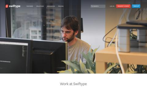 Screenshot of Jobs Page swiftype.com - Jobs | Swiftype - captured Oct. 26, 2015