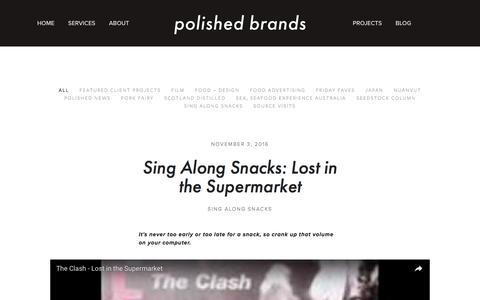 Screenshot of Blog polished-brands.com - Blog — Polished Brands - captured Nov. 8, 2016